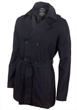 Men's Seven Hill Navy Blue Trench Coat Jacket RRP £89.99 - ALL SIZES FOR WINTER