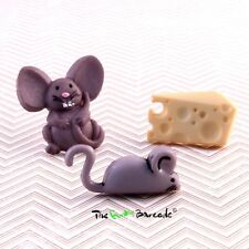 FUNKY BOYS MENS MOUSE STUD EARRING SINGLE CHEESE RETRO COOL NOVELTY KITSCH GIFT