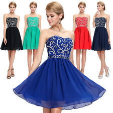 ❤CHARM❤Bead Homecoming Prom Ball Party Evening Bridal Gown Cocktail Short Dress