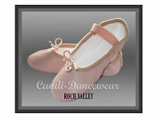 Roch-Valley Leather Ballet Shoes *Pre-Sewn* Elastic..