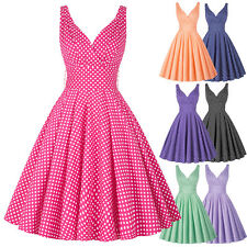 **50s ROCKABILLY** Vintage Audrey Hepburn Style Prom Party Swing Jive Tea Dress