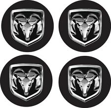 SET OF 4 DODGE RAM  wheel center decal car truck bumper sticker contour cut