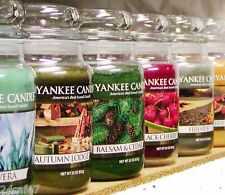 (Q-Z Scents) Yankee Candle LARGE 22 oz JAR CANDLES Variety New & Retired CHOICES