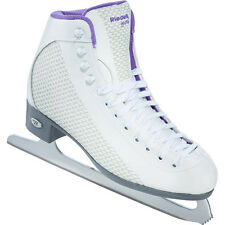 Riedell Sparkle 113 Ladies Womens Figure Skates - White/Violet - 2015 Model