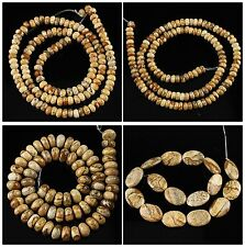 Picture jasper loose beads kinds of shape more size to select gemstone wholesale