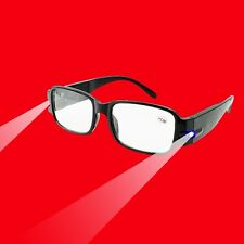 Reading Glasses With Dual Led Lights Come With Plastic Hard Case for Unisex%