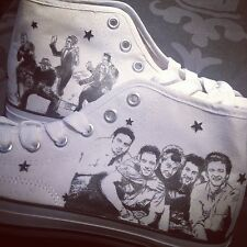 Custom Boots! 1D One Direction The Vamps 5sos The Wanted NKOTB BSB NSYNC