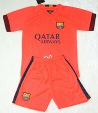 new 2014-2015 BARCELONA AWAY kit shirt and short 3-14 years with any Name+Number