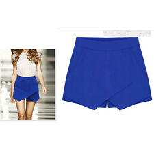 Women Asymmetrical Career Tiered Culottes Skorts Shorts Wrap Mini Skirts New