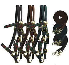 Showman Nylon Halter Bridle Combination with Reins! Aztec Motif! FREE SHIPPING!