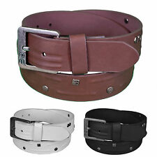 Crosshatch Mens Designer Branded Faux Leather Buckle Belt. BNWT