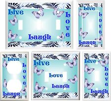BUTTERFLIES LIVE LOVE LAUGH INSPIRATIONAL LIGHT SWITCH OR OUTLET COVER V696