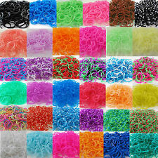 300 Loom Rubber Band Refills Bracelet Bands Fit Rainbow Loom 9~13 Clip 1 hook