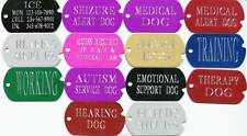 SERVICE DOG TAGS service dog vest collar tag