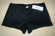 LIZ LANGE MATERNITY SWIM SHORTS BOY SHORTS BLACK / EBONY NO PANEL NEW WITH TAGS