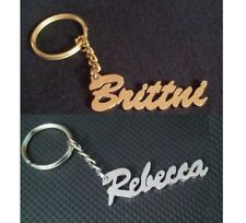 Your Name Personalized Key chain Key Ring Gift Idea Choose White or Golden Metal