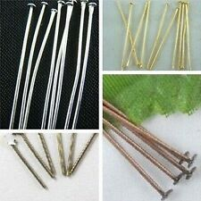Wholesale DIY 100pcs Silver/Golden/Bronze/Copper Head Pins Needles Findings