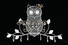 Mini Jewelry Owl Hooks Display Earrings Necklace Ring Ornament Holder