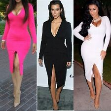 2014 Kim Lady Sexy Women Bodycon Club Evening Cocktail Party Dress Dresses 1114
