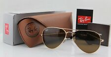 Genuine Ray Ban Aviator RB3025 001/33 all size Gold Frame Brown Lenses Unisex