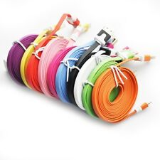 8Pin Flat Noodle USB Charger Data Cable Cord for iPhone5/5S/C iPod Touch 3,6,9FT