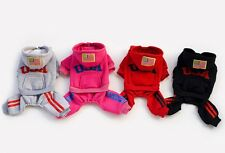 USA Cotton Coat Sweater Jacket Hoodie Jumpsuit Small Boy Girl Dog Clothes S~XXL