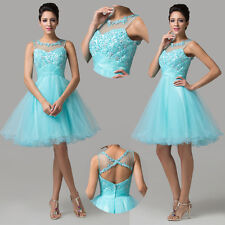 2014New Coming Tulle Short Cocktail Prom Party Homecoming Mini Formal Gown Dress