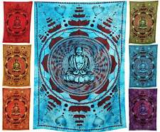 ॐ BUDDHA WALL HANGING ॐ hippy boho throw tapestry lotus hippie large big Blue om