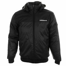 Mens Adidas Originals Padded Coat Jacket Windbreaker Winter Black S M L XL
