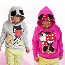 Girls Boys Kids Mickey 3D Minnie Mouse T-shirt Tops Hoodies Sportswear Costume