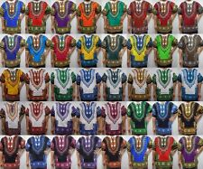 Mens Dashiki Shirts African Blouses Womens Top Vintage 70s Hippie Boho One size