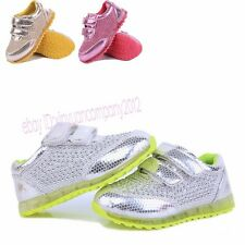 Fashion Kids Boys Girls Mesh Casual Breathable Sports Sneakers Running Shoes T16