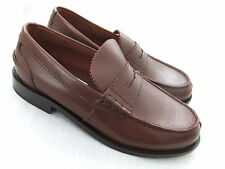 NEW CLARKS BEARY MENS BROWN ALL LEATHER LOAFERS SHOES BNWT