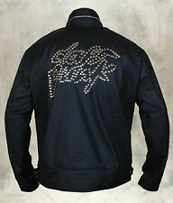 Daft Punk Eloctroma Get Lukcy Leather Jacket with Zipper and Stitching in Black