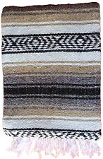ASSORTED COLORS Mexican Blankets from Mexico 4' x 6' Yoga Mat Baja Blanket Falza
