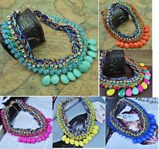 New Arrive Hot Selling Fashion Handmade Crystal Gemstone Bib Necklace