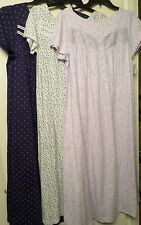 New Full Length Long Night Gown, Cotton Blend, Short Sleeves Croft & Barrow NWT