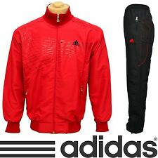 Brand New ADIDAS PERFORMANCE Mens Tracksuit Polyester Jacket Pants Red Black