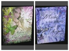 Jessica Galbreth Wicca Style Canvas.  Believe Dreamer Angels Friends Canvas