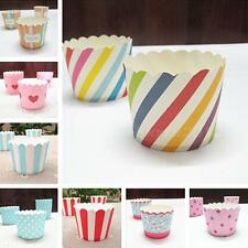 50pc/set Vogue Cake Baking Paper Cup Cupcake Muffin Cases Cups Home Party