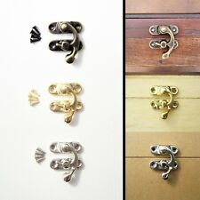 12X Antique Decorative Jewelry Gift Wine Wooden Box Hasp Latch Hook With Screws