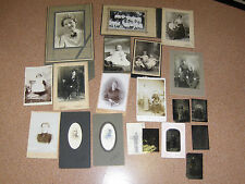 Various Vintage CDV and Tin Photo's