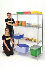 Chrome Wire Shelving Shelves Display Racking Shop Retail Home Catering