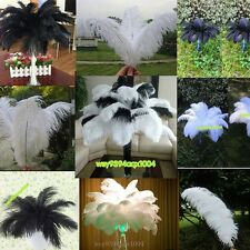 NEW!5/10/50/100pcs white/black natural Ostrich feathers 6-18inch/15-45cm