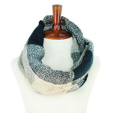 Basico Women Unisex Check Pattern Warm Circle Ring Infinity Scarf Neck Warmer **