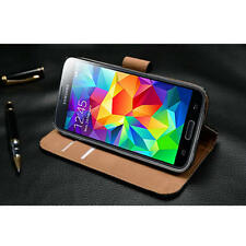 Ultra Slim Genuine Real Leather Book Portfolio Wallet Stand Case Cover+Stylus