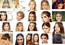 Head Chain Women Fashion Metal Rhinestone Jewelry Headband Head Piece Hair band
