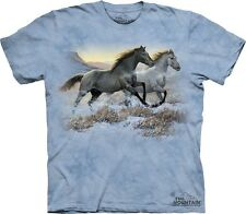Running Free Kids T-Shirt from The Mountain. Horses Boy Girl Child Sizes NEW