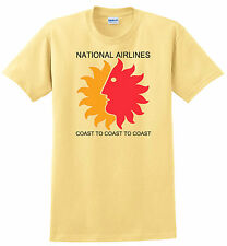 National Airlines  T-shirt. Vintage Sun King Logo. Size S-3X 100% 4 Colors