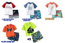 * NEW BOYS CARTERS 2PC Two-Piece Swim SHORTS Set NB 3M 6M 9M 5